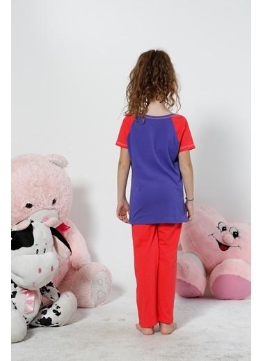 Siyah İnci Pijama Takım Mor